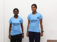 Foot ball-All India South Zone Inter University level-P.Princy-I M.A History&M.Sathyabraba-III B.A History